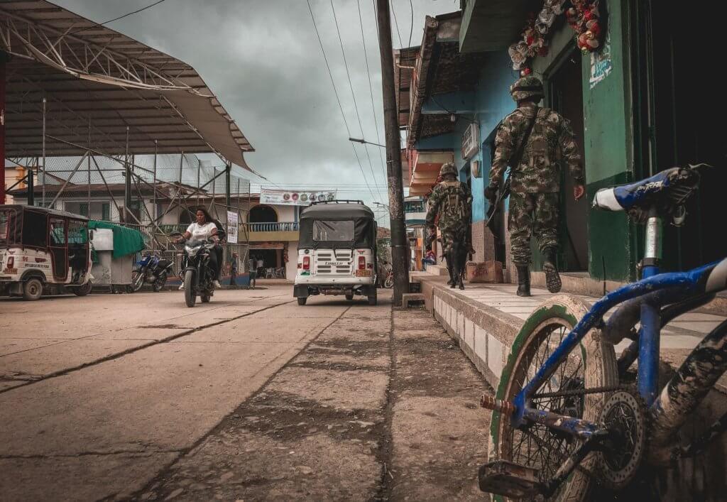 Militares en San José del Palmar. Foto: Santiago Ramírez / La Cola de Rata.