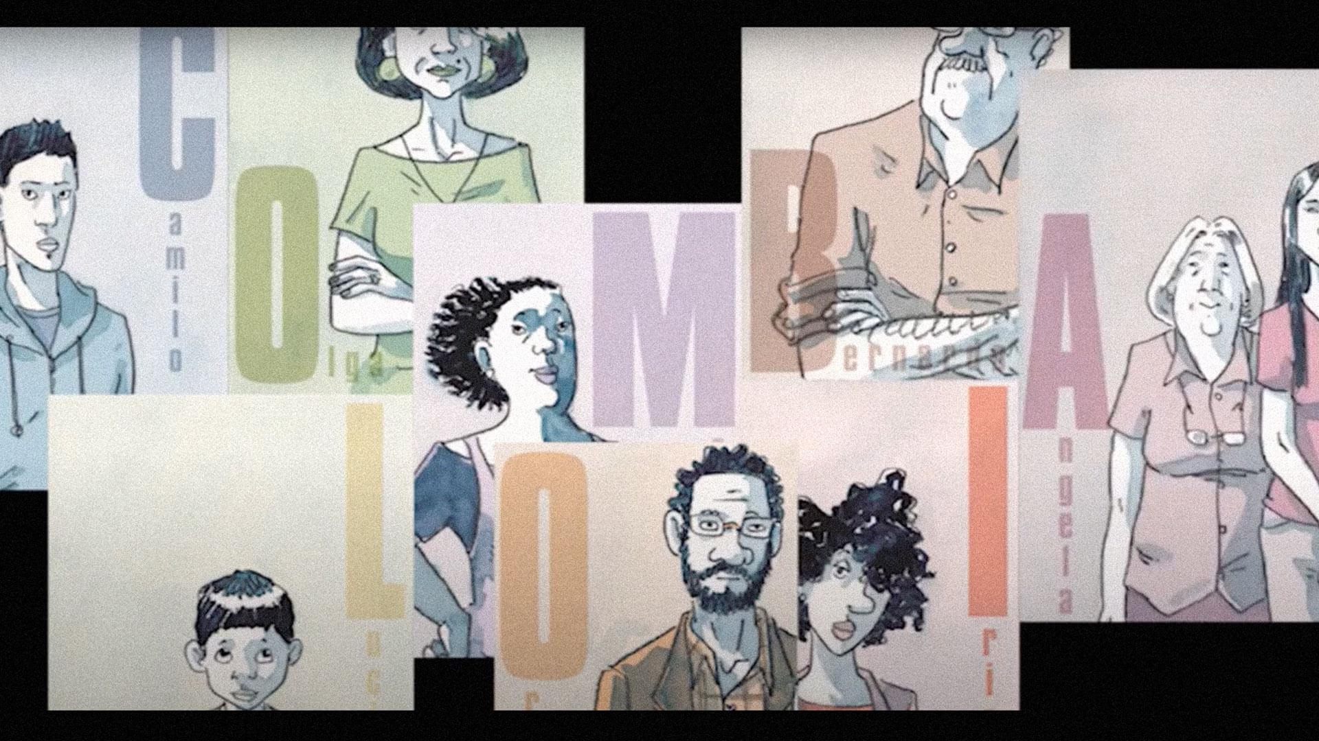 'Transparentes', el cómic que narra la vida de los exiliados colombianos