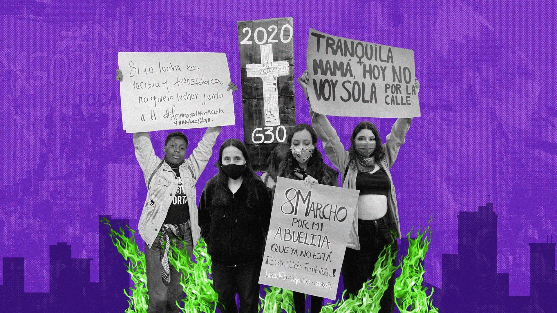 Así fue la jornada de movilización del #8M2021 en Bogotá