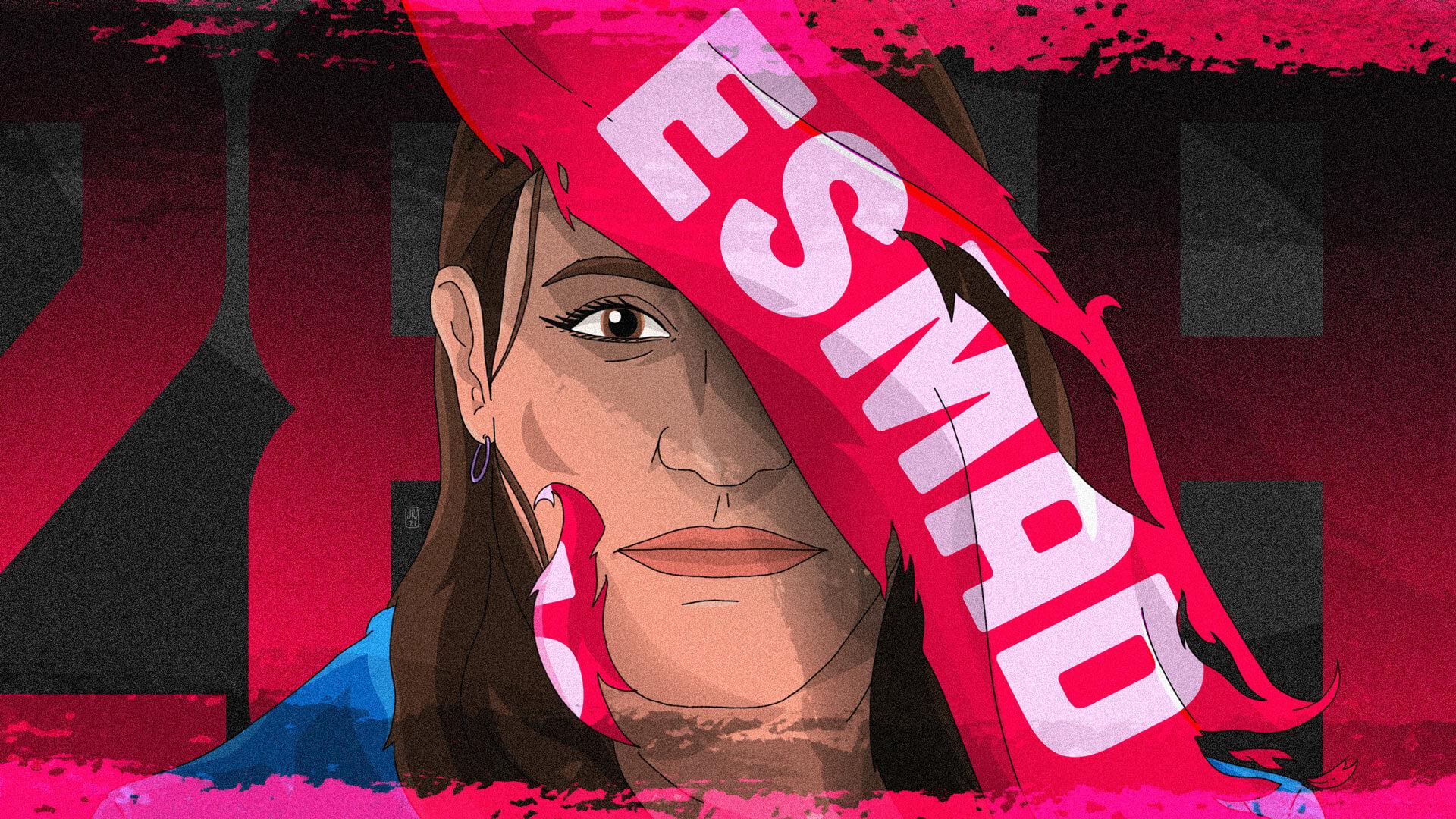 """""""Seguimos en pie de lucha"""": Leidy Cadena, a quien el Esmad le habría disparado en un ojo"""